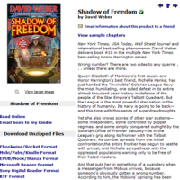 Did someone at Baen jump the gun? Honor Harrington - Shadow of Freedom is available for download.