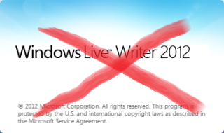 Windows Live Writer No More