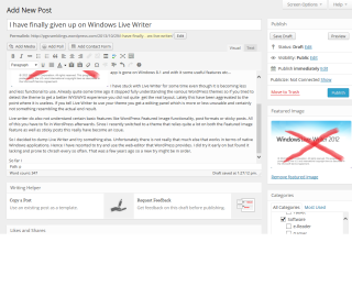 WordPress web-editor