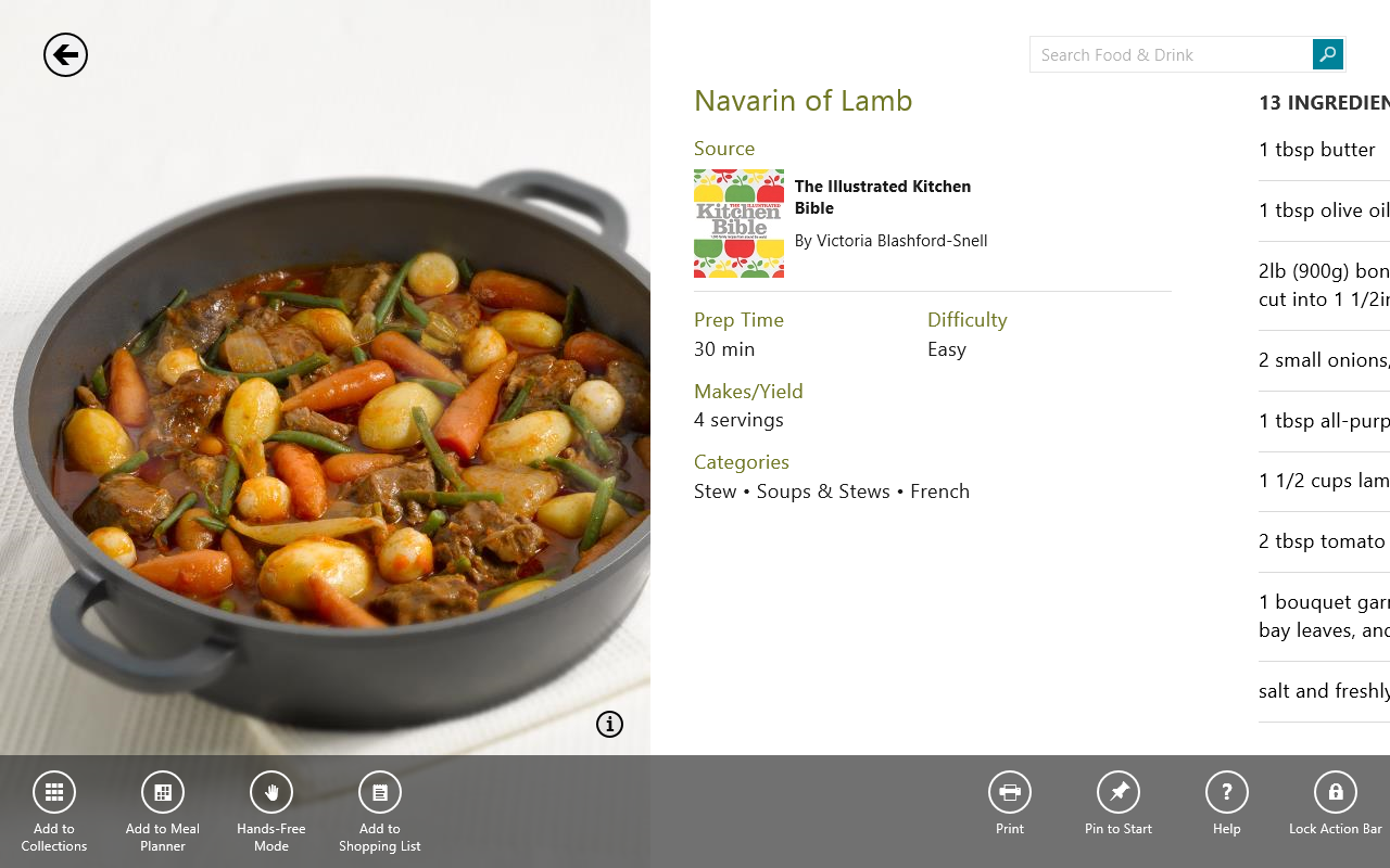Bing Food and Drink is actually a quite nice app for Windows 8 – PG ...