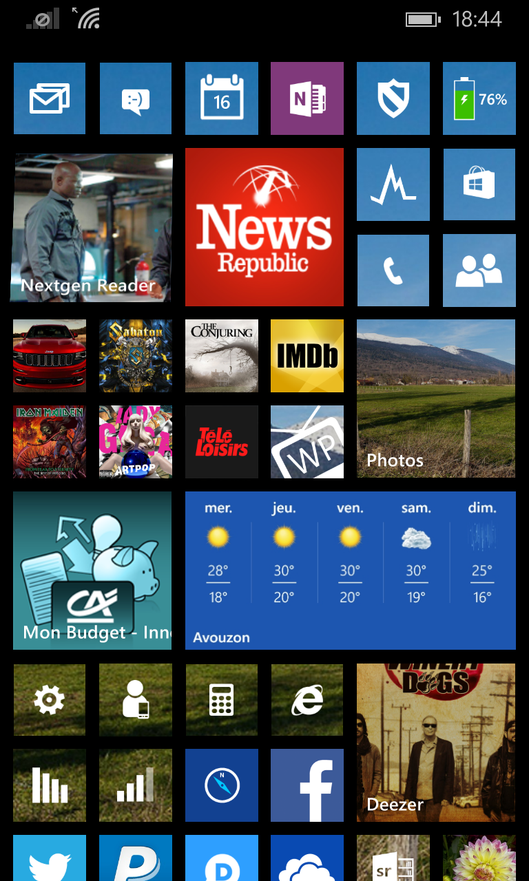 Got my Windows Phone 8.1 Upgrade. Has a few useful new features.