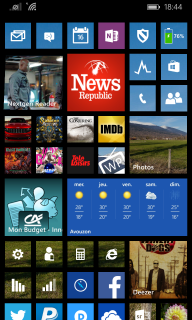 WP 8.1 Start Screen