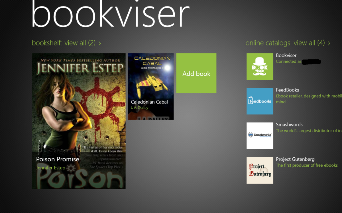 Bookviser: Quite nice ebook-reader for Windows 8 and Windows Phone 8