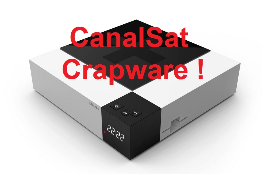 Arrrggghhh, fucked by CanalSat's crapware again!